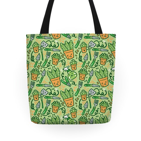 Kawaii Plants and Gardening Tools Tote