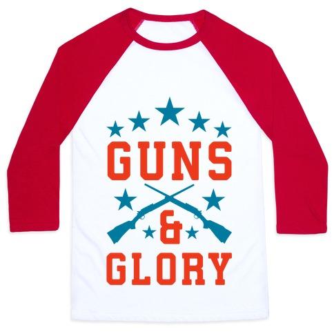 Guns and Glory Baseball Tee