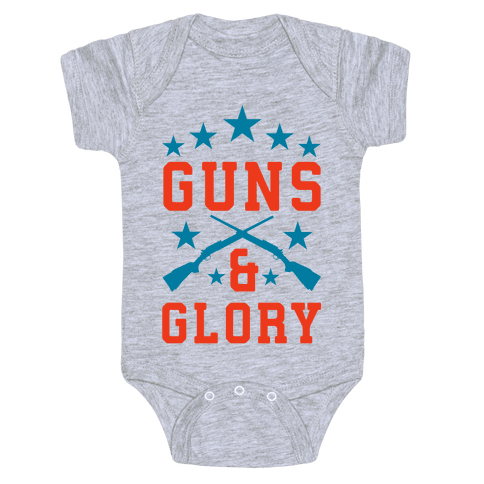 Guns and Glory Baby Onesy