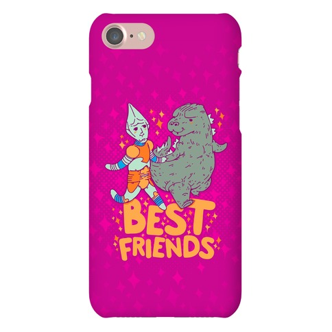 Best Friends Jet Jaguar & Godzilla Phone Case