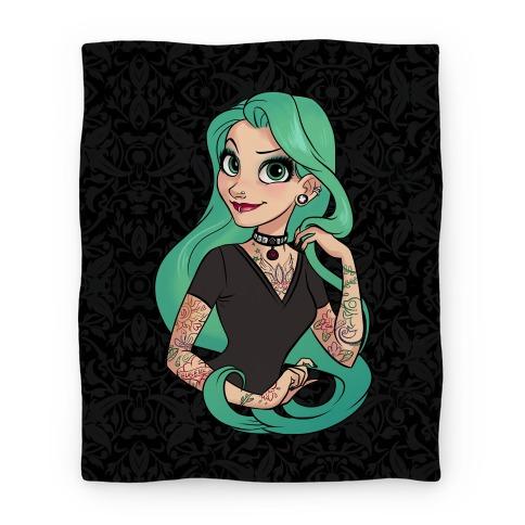 Punk Rapunzel Blanket Blanket