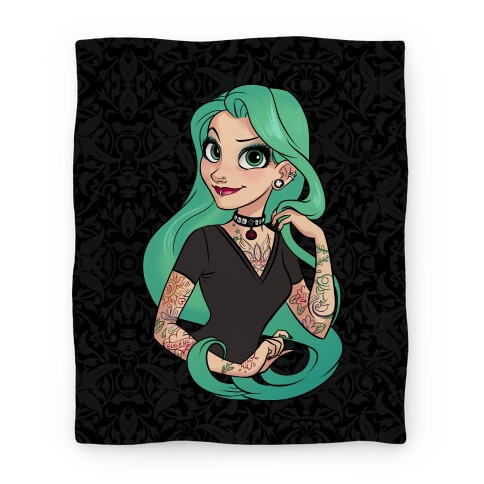 Punk Rapunzel Blanket Blanket LookHUMAN Delectable Rapunzel Throw Blanket