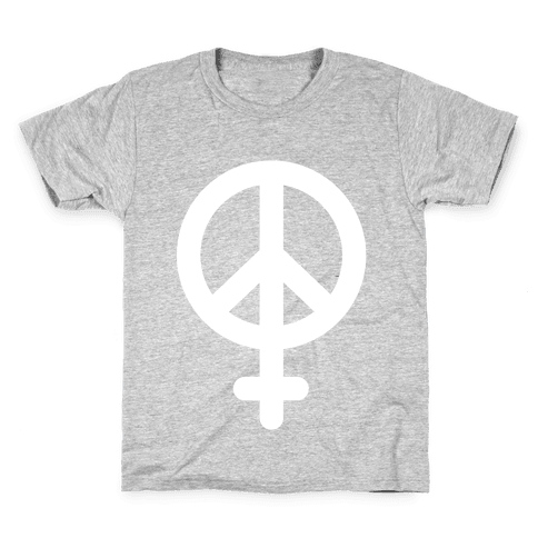 Peace Sign Feminist Kids T-Shirt