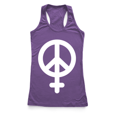 Peace Sign Feminist Racerback Tank Top