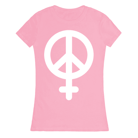 Peace Sign Feminist Womens T-Shirt