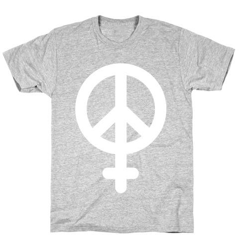 Peace Sign Feminist T-Shirt