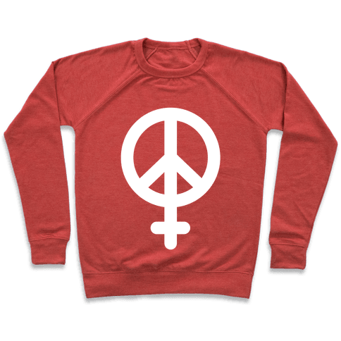 Peace Sign Feminist Pullover