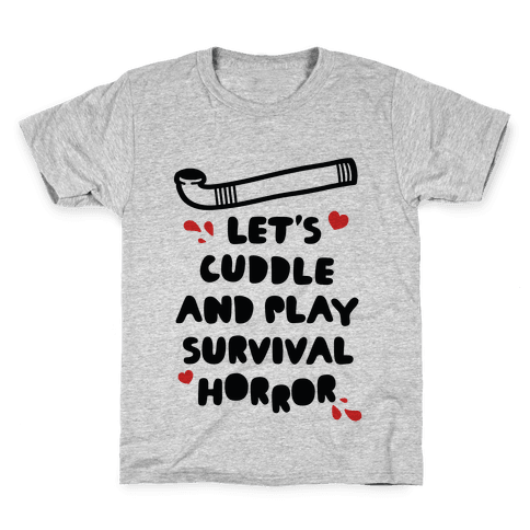 Let's Cuddle and Play Survival Horror Kids T-Shirt
