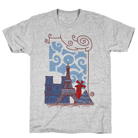 The City of Love Mens T-Shirt