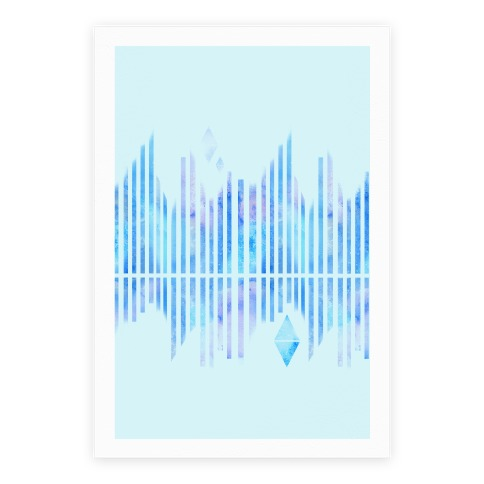 Abstract Winter Crystals Poster
