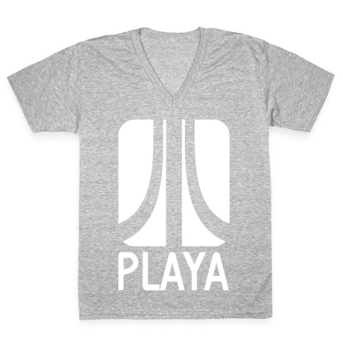 Old School Playa V-Neck Tee Shirt