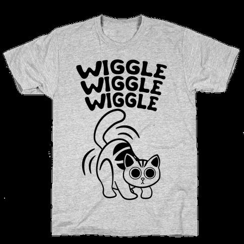 Wiggle Wiggle Wiggle (Black) Mens T-Shirt