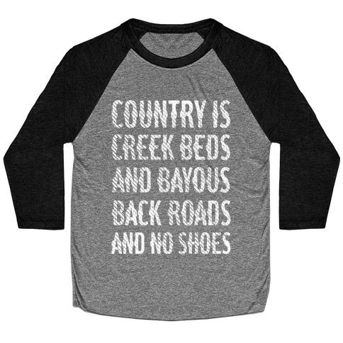 Country Is Baseball Tee