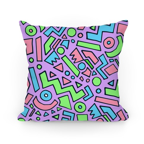 90's Surfer Pattern (Purple) Pillow