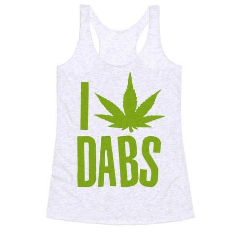 I Love Dabs Racerback Tank Top