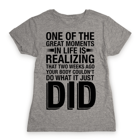 Realizing Great Moments Womens T-Shirt