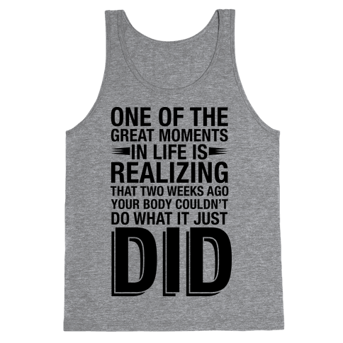 Realizing Great Moments Tank Top