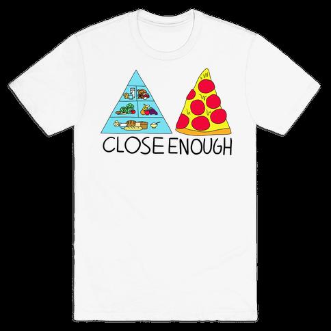 Pizza Pyramid (Close Enough) Mens T-Shirt