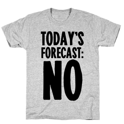 Today's Forecast: NO T-Shirt