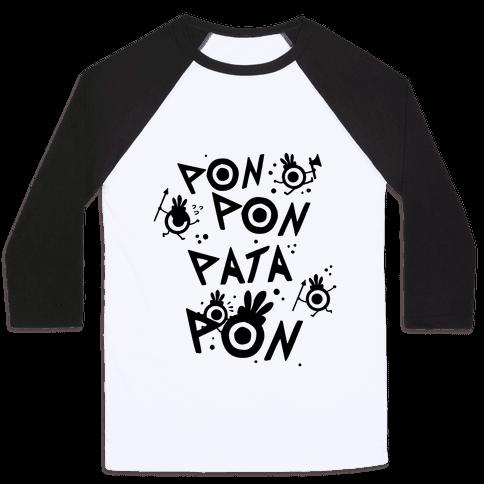 Pon Pon Pata Pon Baseball Tee