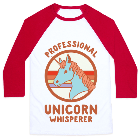Professional Unicorn Whisperer Baseball Tee