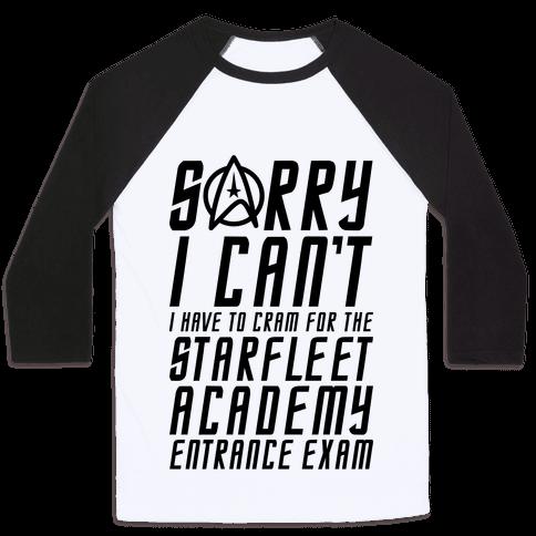 Starfleet Academy Entrance Exam Baseball Tee
