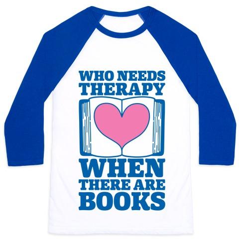 Book Therapy Baseball Tee