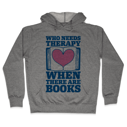 Book Therapy Hooded Sweatshirt