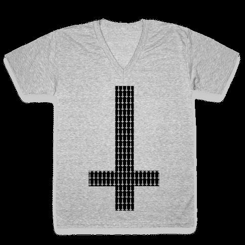 Generic Hipster V-Neck Tee Shirt