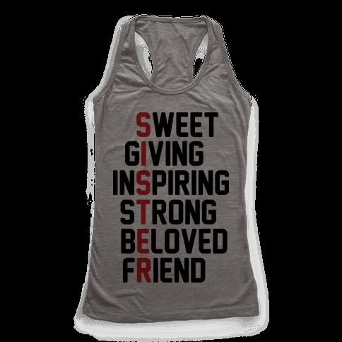 Sweet Giving Inspiring Strong Beloved Friend - Sister
