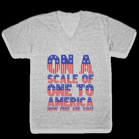 AMERICA! V-Neck Tee Shirt
