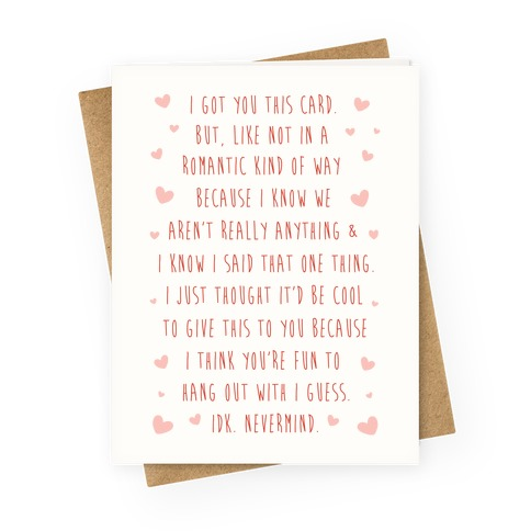 I Got You This Card Greeting Card