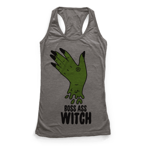 Boss Ass Witch Racerback Tank Top