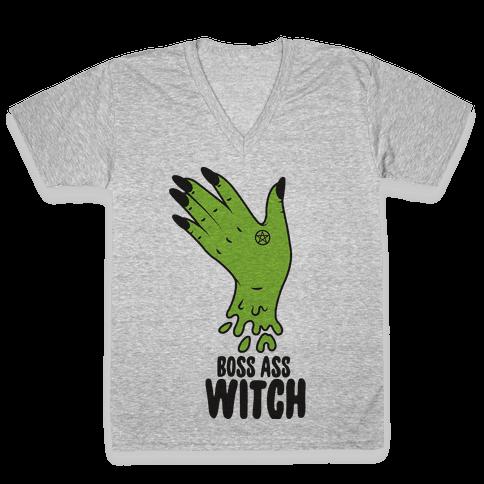 Boss Ass Witch V-Neck Tee Shirt