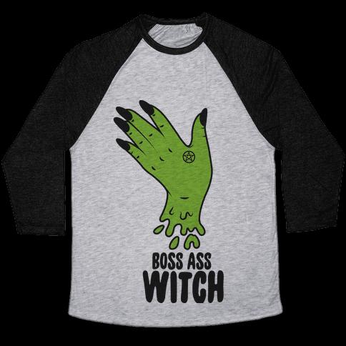 Boss Ass Witch Baseball Tee