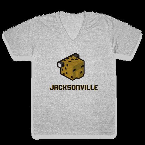 Jacksonville Blocks V-Neck Tee Shirt