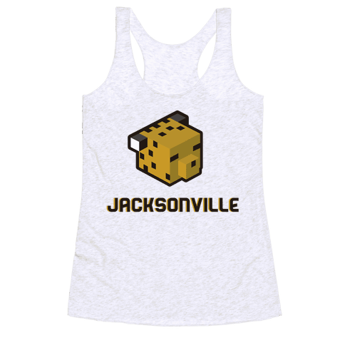 Jacksonville Blocks Racerback Tank Top