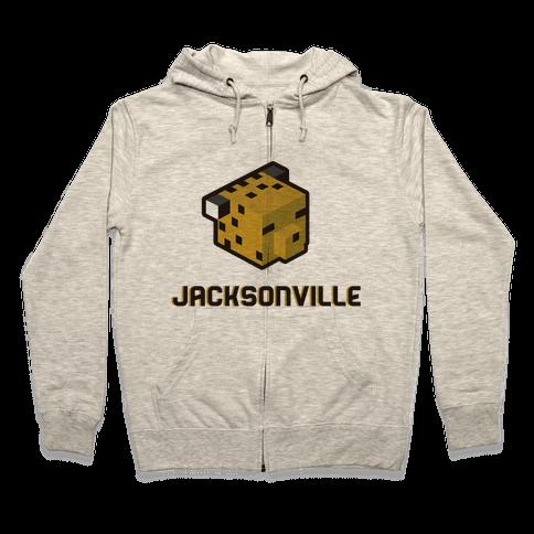 Jacksonville Blocks Zip Hoodie