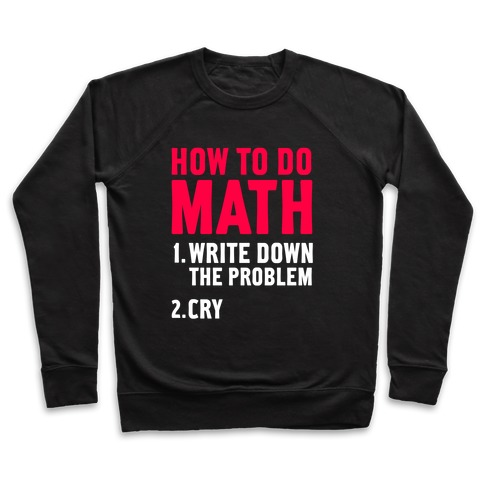 How To Do Math Pullover