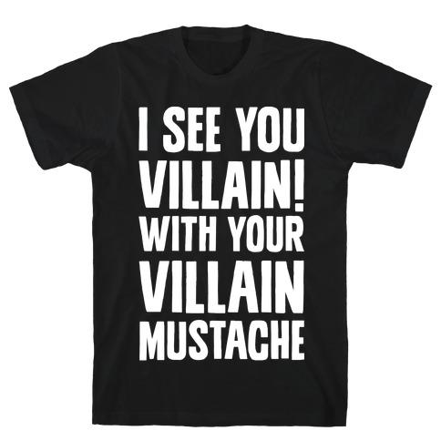 Villain Mustache T-Shirt