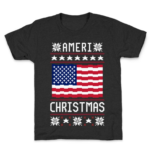 Ameri' Christmas Ugly Sweater Kids T-Shirt