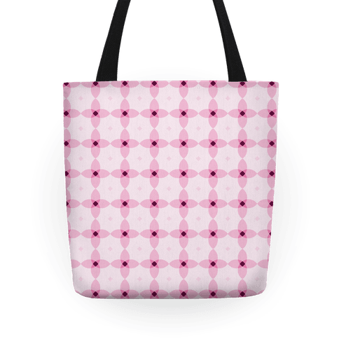 Pink Geometric Flower Pattern Tote