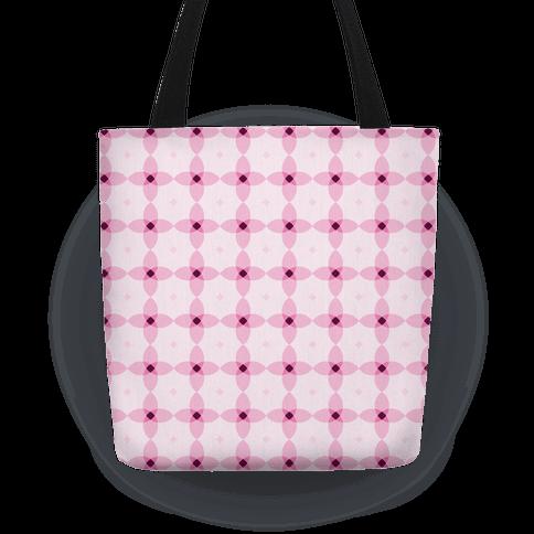 Pink Geometric Flower Pattern Tote