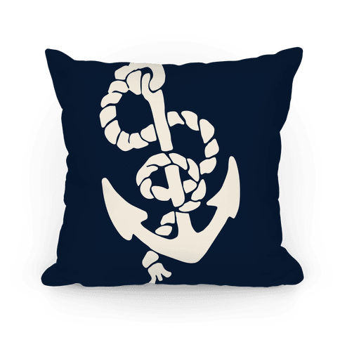 Large Anchor (Navy) Pillow
