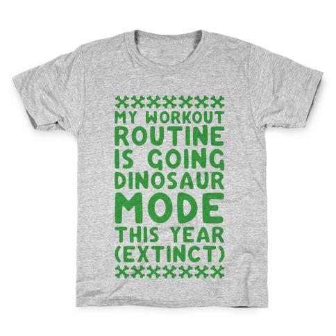 My Workout Routine Is Extinct Kids T-Shirt