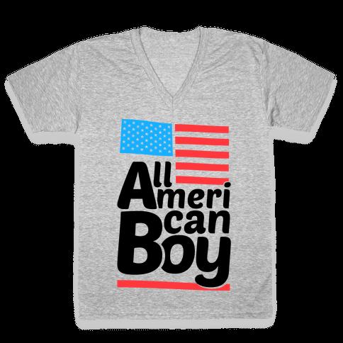 All American Boy V-Neck Tee Shirt