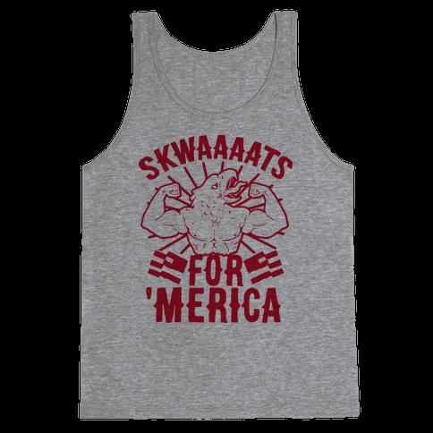 Skwaaaats For 'Merica Tank Top