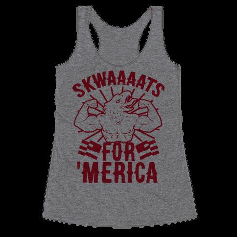 Skwaaaats For 'Merica Racerback Tank Top