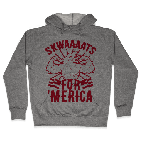 Skwaaaats For 'Merica Hooded Sweatshirt