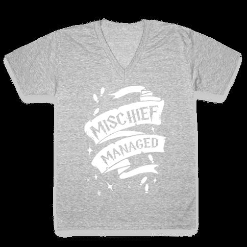 Mischief Managed V-Neck Tee Shirt